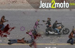Motard contre zombies