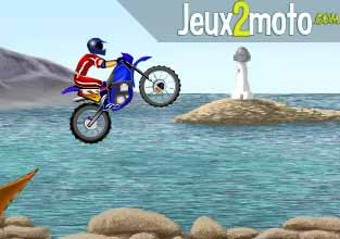 moto cross sur la plage. Black Bedroom Furniture Sets. Home Design Ideas