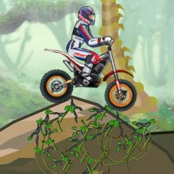 Moto Trial dans la Jungle