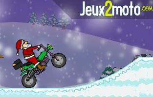 Santa cross le P�re No�l � moto